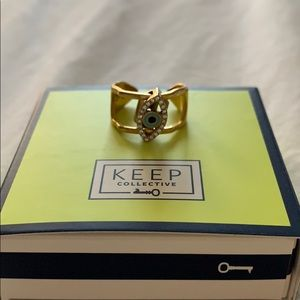 Keep collective ring with evil eye charm